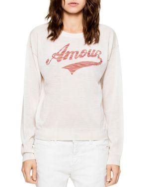 Zadig & Voltaire Kansas Amour Merino-Wool Sweater