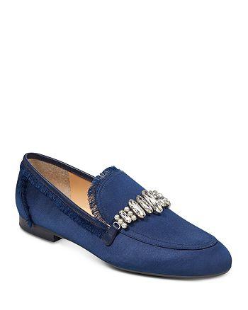 IVANKA TRUMP - Women's Weven Embellished Satin Loafers