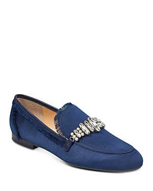 Ivanka Trump Women's Weven Embellished Satin Loafers