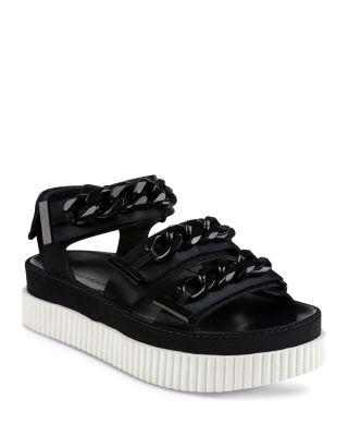 Ivie Satin Chain Platform Sandals