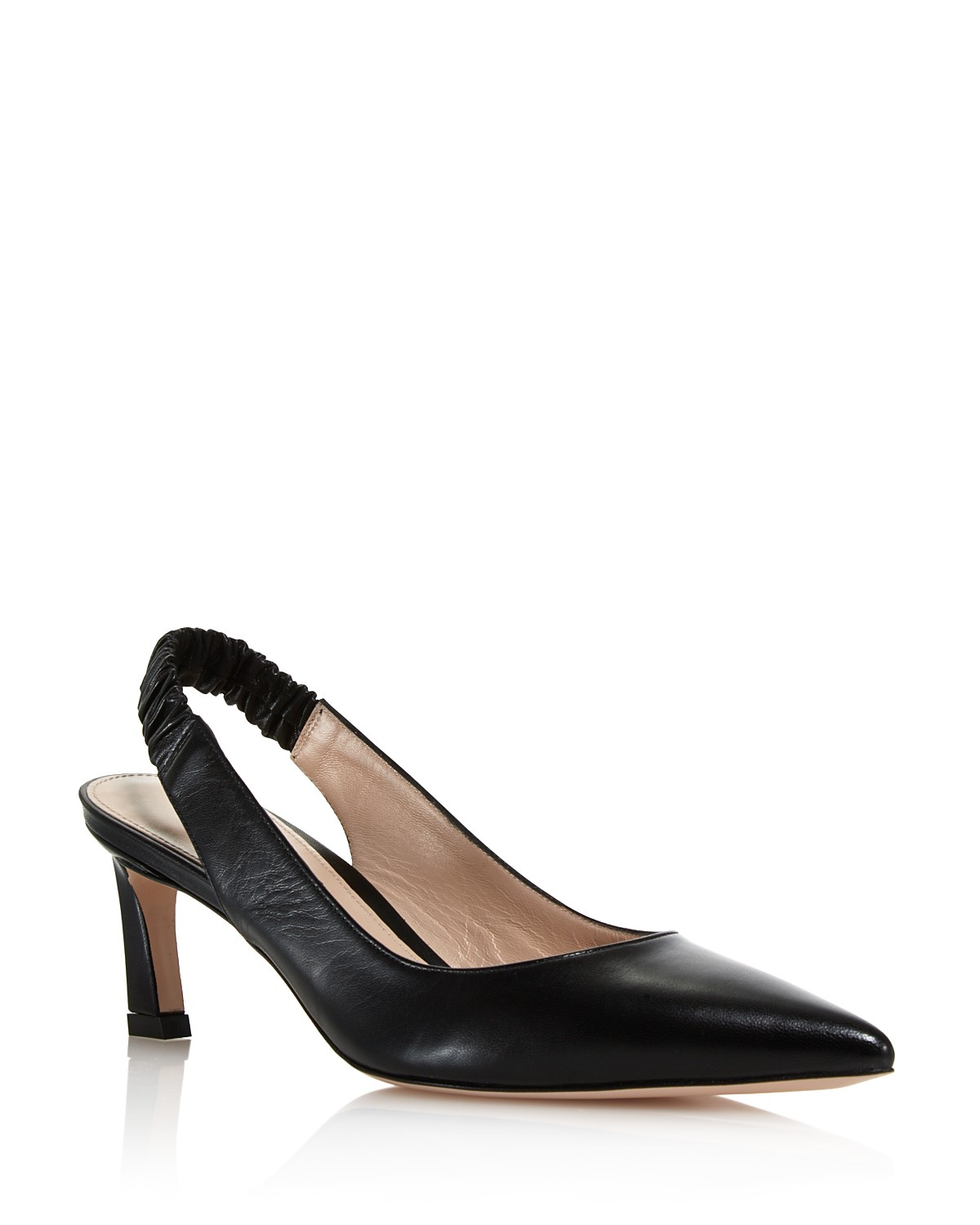 Stuart Weitzman Leather Pointed-Toe Slingbacks Grey outlet store online discounts nKQbdidu
