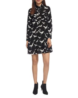 Whistles Crane Printed Shirt Dress