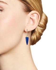 Olivia B - 14K Yellow Gold Lapis & Diamond Spike Drop Earrings - 100% Exclusive
