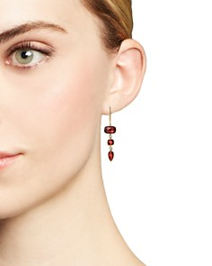 Olivia B - 14K Yellow Gold Tiered Garnet & Diamond Drop Earrings - 100% Exclusive