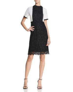 nanette Nanette Lepore Color-Block Lace Dress 2831333