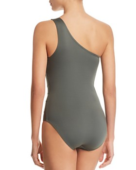 Carmen Marc Valvo - One Shoulder One Piece Swimsuit