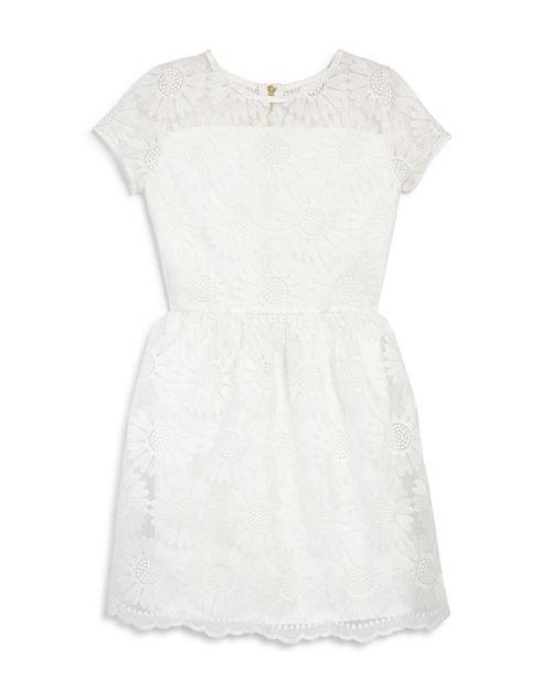 AQUA - Girls' Sunflower Embroidered Dress, Big Kid - 100% Exclusive