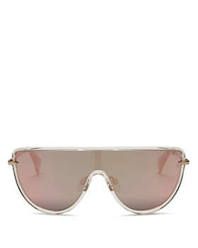 rag & bone - Women's Mirrored Shield Sunglasses, 49.5mm