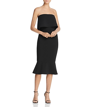Likely  CONRAD OFF-THE-SHOULDER FLARED-HEM MIDI DRESS
