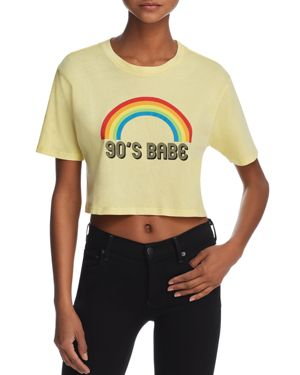 DESERT DREAMER '90S Babe Cropped Graphic Tee - 100% Exclusive in Washed Yellow