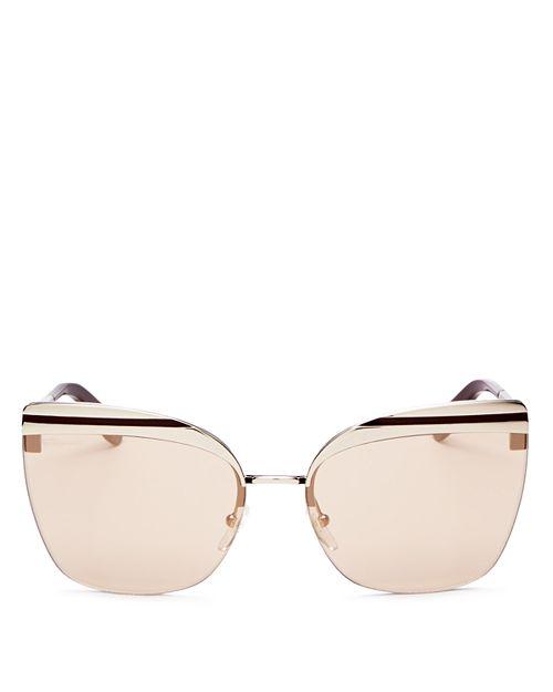 Salvatore Ferragamo - Women's Oversized Rimless Cat Eye Sunglasses, 63mm