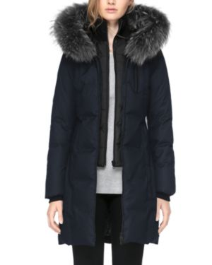 Soia & Kyo Chrissy Fox Fur Trim Parka