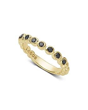 LAGOS - Gold & Black Caviar Collection 18K Gold & Black Diamond Ring
