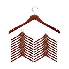Honey Can Do - Cherry Wood Shirt Hanger, Set of 20