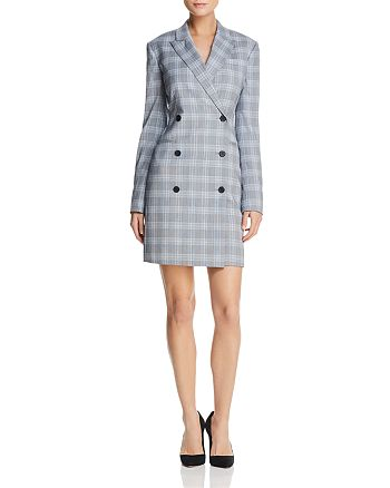Theory - Stretch-Wool Blazer Dress