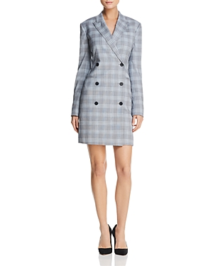 Theory Stretch-Wool Blazer Dress