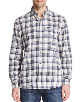 Joe's Jeans - Frayed Plaid Long Sleeve Button-Down Shirt