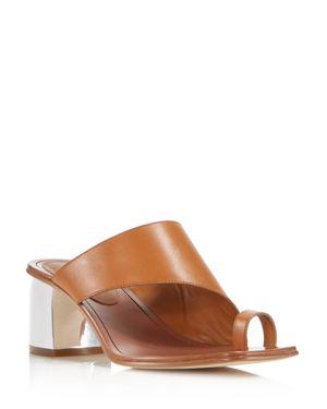 Sigerson Morrison Women's Marcel Leather Block Heel Sandals 2840164