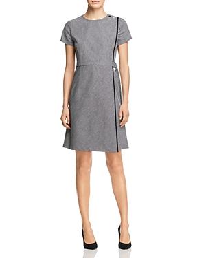 Boss Hadiana Striped Faux-Wrap Dress