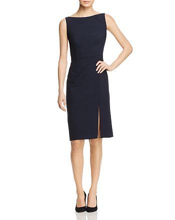 BOSS - Striped Cold-Shoulder Sheath Dress