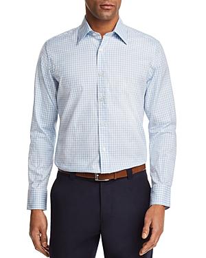 Canali Check Regular Fit Button-Down Shirt