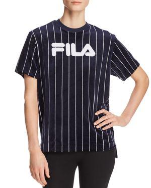 Fila Tux Velour Pinstriped Tee