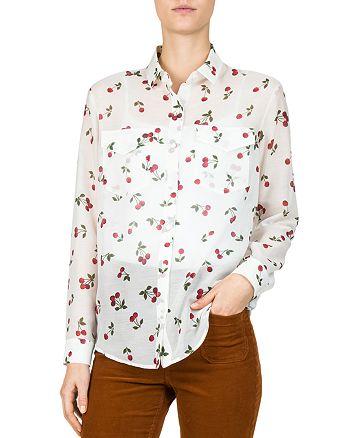 The Kooples - Cherry Love Printed Shirt