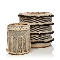 Britannica - Hand-Woven Jute-Detail Cotton Baskets - 100% Exclusive