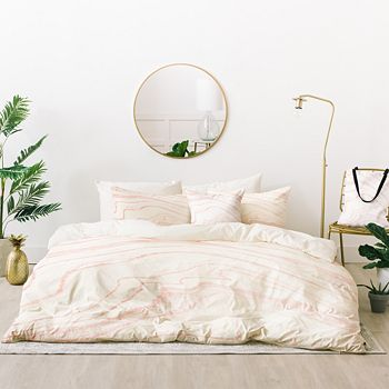 Deny Designs - Rebecca Allen Blush Marble Bed-in-a-Bags