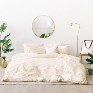 Deny Designs Rebecca Allen Blush Marble Bed-in-a-Bag, King