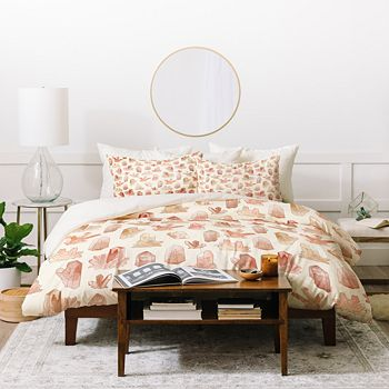 Deny Designs - Dash and Ash Those Gems Though in Sunrise Duvet Cover Set, King
