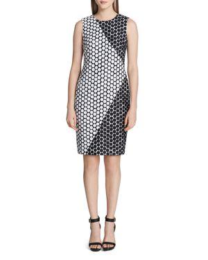 Calvin Klein Sleeveless Dot Shift Dress 2845940