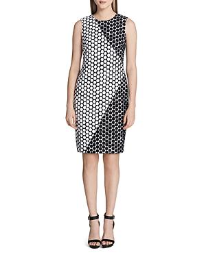 Calvin Klein  SLEEVELESS DOT SHIFT DRESS