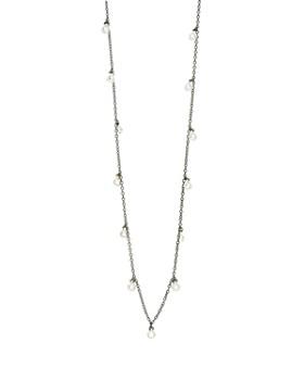 """Freida Rothman - Bezel Drop Strand Necklace, 60"""""""