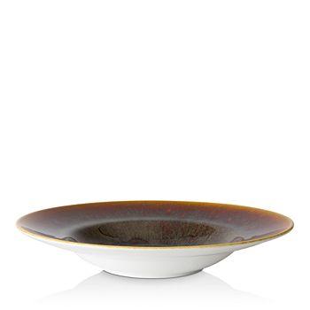 Royal Crown Derby - Art Glaze Flamed Caramel Rimmed Bowl