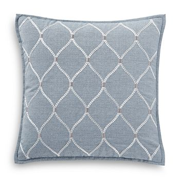 "Waterford - Florence Embroidered Decorative Pillow, 18"" x 18"""