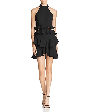 Do And Be Ruffled Cutout Dress 100 Exclusive In Black