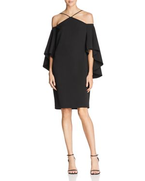 Laundry by Shelli Segal Cold-Shoulder Bell-Sleeve Dress 2850009