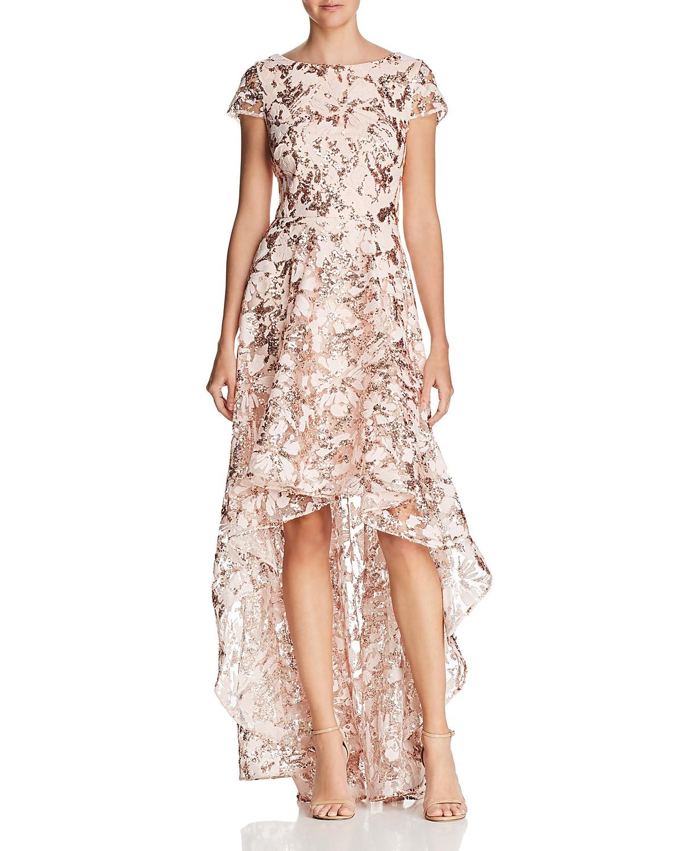 Eliza J Embellished High/Low Gown   Bloomingdale\'s