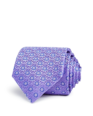 Canali Micro Floral Medallion Classic Tie