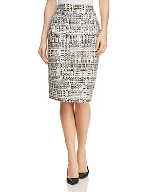 Badgley Mischka Tweed Pencil Skirt