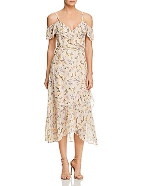Rebecca Minkoff Jessica Ruffled Floral-Print Midi Wrap Dress