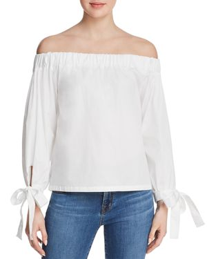7 For All Mankind Off-the-Shoulder Top