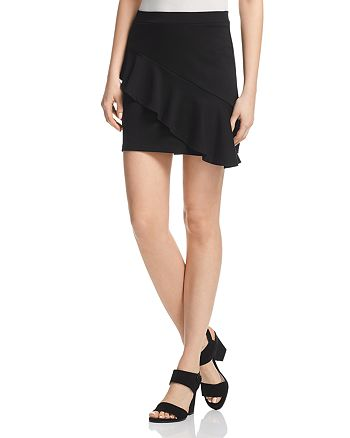 AQUA - Asymmetric Ruffle Skirt - 100% Exclusive