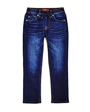 7 For All Mankind Boys DarkWash ElasticWaist Jeans  Little Kid