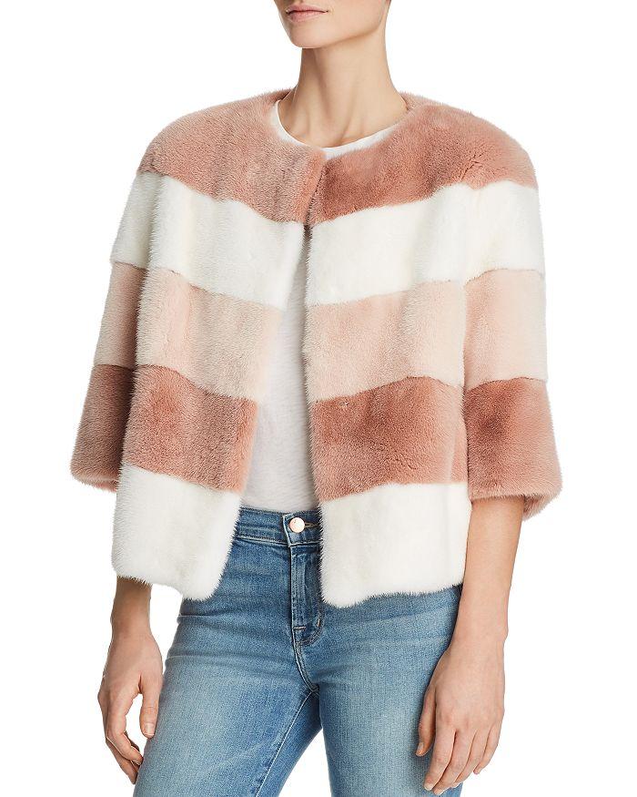 Maximilian Furs - Color-Block Mink Fur Coat - 100% Exclusive