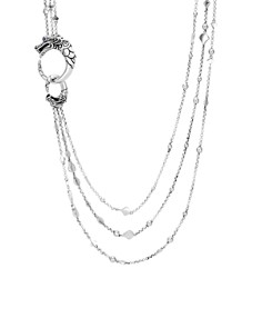 """JOHN HARDY - Sterling Silver Legends Naga Multi Row Necklace with Sapphire Eyes, 30"""""""