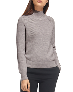 Whistles Mock Neck Wool Sweater