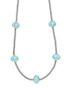 LAGOS 18K Gold & Sterling Silver Gemstone Melon Bead Station Necklace - Bloomingdale's_0