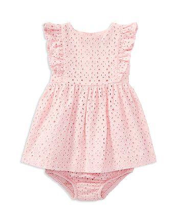 d6820328 Ralph Lauren Girls' Ruffled Eyelet Dress & Bloomers Set - Baby ...